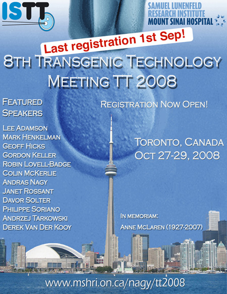 TT2008 Meeting (Toronto, Canada, 27-29 October 2008)