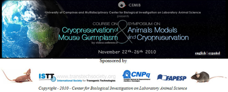 Course and Symposium on Cryopreservation at CEMIB, Campinas, Brazil