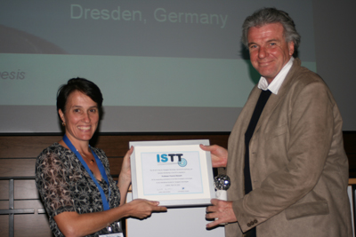 Prof. A. Francis Stewart awarded the 7th ISTT Prize