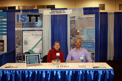Jan Parker-Thornburg and Carlisle Landel, from ISTT, at the 60th AALAS meeting, Denver, CO, USA, November 8-12, 2009