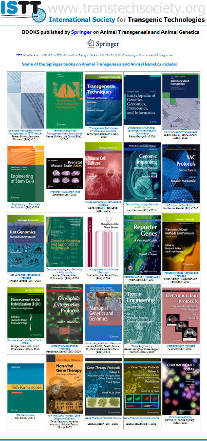 ISTT Members entitled to purchase Springer books with a 33% discount